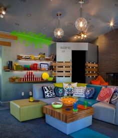 Teen Playroom Design Ideas, Pictures, Remodel and Decor Teen Playroom, Teen Game Rooms, Boys Game Room, Boy Room, Playroom Ideas, Teen Lounge Rooms, Game Room Design, Playroom Design, Lounge Design