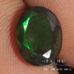 7X9 MM Natural Ethiopian Welo Fire Black Opal Faceted Cut Gemstone Play  268H