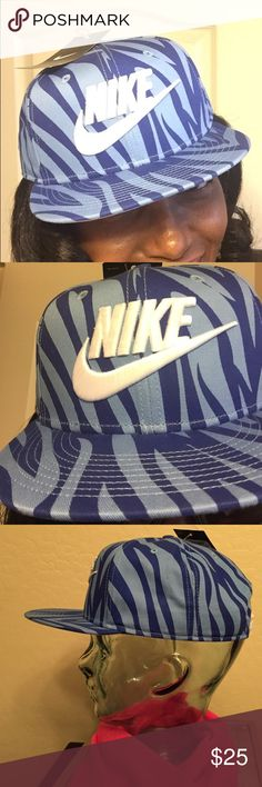 HATS BUNDLE--3 HATS for @imherrera 💐💐💐 BUNDLE--3 Hats. 1-Authentic Nike SnapBack Adult Unisex Cap. 🎉Weekend Wardrobe Party HP 9/9/16🎉 Very Unique, Colorful, & Bold! Blue/Dark Blue Animal Print. Large Embroidered White Nike & Swoosh on the Front Center. Bill is Solid White on the inside. So is the Plastic Adjustable SnapBack, Vented. 100% Cotton. Inside Lining is 92% Polyester/8% . 2-Nine West Tan Visor with Bling. 3-Something Special Pink Studded Baseball Cap. Brand New. Excellent…