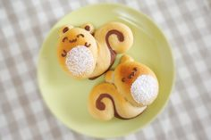 Bean jam walnut bread Squirrel Eichhörnchen Brot Kuchen Keks backen gebäck fun food kids snack afternoon