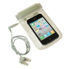 iSwim Waterproof Case | Comes w/ headphones. You mean I can pin in the shower, and pin 'n swim?
