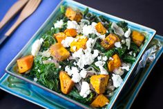 Delicious Sweet Potato, Goat Cheese and Kale Salad + health benefits of Kale and why it's excellent for weight loss!