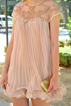 Romantic ( Pleated Lace Dresses & Metallic Clutches )