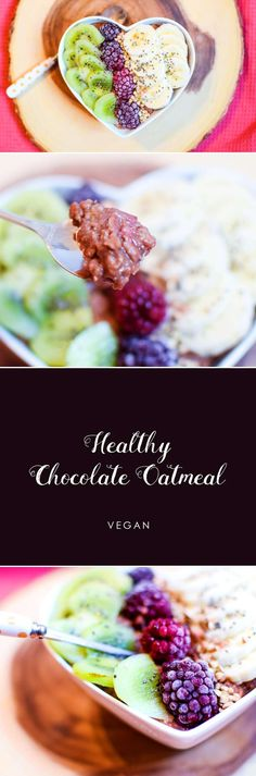 Healthy and chocolate. Can they co-exist? Of course they can! And they do so devilishly in my favourite simple, healthy chocolate oatmeal recipe. Vegan, gluten free.