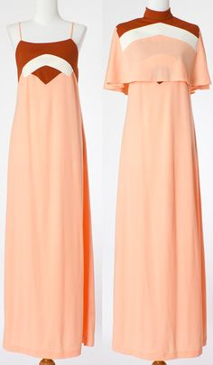 70s Vintage Dress Maxi Dress Formal Pink by TheyRoaredVintage, $48.00