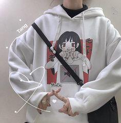 2019 Fashion Sweatshirt Hoodie For Women Clothing Korean Ulzzang Harajuku Streetwear Long Sleeve Hooded Sweatshirts Female Top - sweatshirt fashion Grunge Outfits, Edgy Outfits, Korean Outfits, Cute Outfits, Hoodie Sweatshirts, Printed Sweatshirts, Kawaii Hoodie, Harajuku Fashion, Harajuku Style