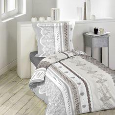 Bavlněné povlečení béžovo šedé Nova, Furniture, Home Decor, Comforter Set, Slipcovers, Human Height, Romanticism, Sons, Glamour