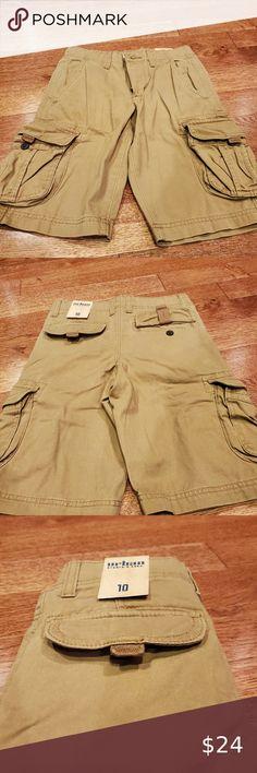 new NWT AMERICAN EAGLE boys 77 KIDS 100/% Cotton Brown Cargo Short sz 6-12 mos