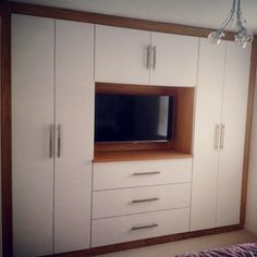Last job of Tv In Bedroom, Bedroom Ideas, Fitted Wardrobes, Wardrobe Design, Bespoke Furniture, Cabinet Makers, Tv Unit, Alcove, Ideas Para