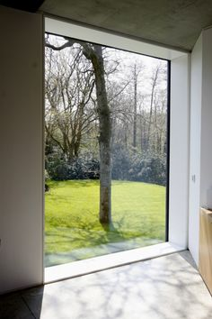 IQ Glass can create large, fixed frameless windows using frameless structure glass to create a 'picture' to the outside with no visible frame Sash Windows, Floor To Ceiling Windows, Large Windows, Windows And Doors, House Extension Design, Glass Extension, Frameless Window, Self Build Houses, External Doors