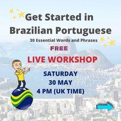 🇧🇷FREE LIVE WORKSHOP ON ZOOM 💥LIMITED SPACES 👉 DM or comment below to be sent the secret registration link  #FWBP #brazilianportuguese #brazilianportugueseworkshop #portuguese #brazilianportugueseforforeigners #portugueseforgringos #learnbrazilianportuguese #brazlianportugueselovers #learnportuguese #portugueselessons #portuguesecourse #portuguesetips #speakportuguese #portugiesischlernen #languages #webinar #freeworkshop #polyglot #bilingual #hablarportugues  #ブラジルポルトガル語 Learn Brazilian Portuguese, Portuguese Lessons, Uk Time, Languages, Get Started, Workshop, Spaces, Live, Words