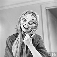 Mask Dances - Margaret Severn photographed by Nina Leen for LIFE Magazine. °