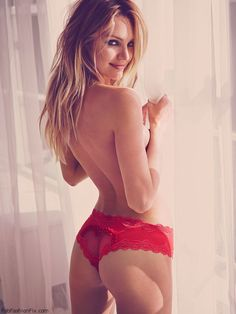 Sexy Candice Swanepoel for Victoria's Secret Valentine's Day 2015 collection. #candiceswanepoel