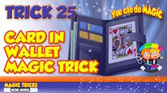 Card in wallet magic trick - magic tricks for kids Karte in Brieftasche Zaubertric. Card Tricks For Kids, Magic Tricks For Kids, Magic Card Tricks, Amazing Magic Tricks, How To Do Magic, Learn Magic, Magic Tricks Illusions, Best Magician, C Tutorials