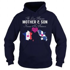This matching mother and son shirt will be a great gift for you or your friend: THE LOVE BETWEEN MOTHER AND SON - France Martinique Tee Shirts T-Shirts