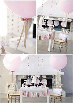 baby shower ideas/inspiration board gold pink white cream glitter