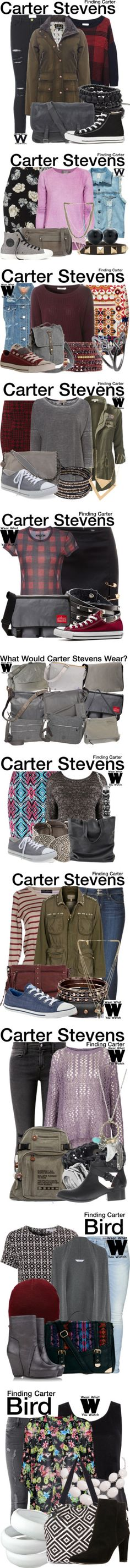 Wear What You Watch(Finding Carter) by nessiecullen2286 on Polyvore featuring Frame Denim, Band of Outsiders, Barbour, Numero 10, Converse, television, wearwhatyouwatch, Volcom, Valentino and Corsia