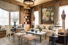 A classical library in Virginia by Michael Hampton Design