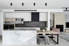 The Design Files: What happened when an interior stylist bought the worst home on the best street Kitchen Island Dining Table, Kitchen Benches, Kitchen Cabinets, Dining Tables, The Design Files, Küchen Design, House Design, Design Ideas, Modern Kitchen Design