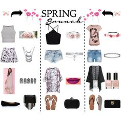 spring brunch by cassandree on Polyvore featuring mode, MANGO, Miss Selfridge, Free People, Lipsy, Abercrombie & Fitch, American Eagle Outfitters, J.J. Winters, MICHAEL Michael Kors and Wet Seal