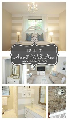 DIY Accent Wall Ideas Anyone Can Do...Great ideas to make any room amazing!