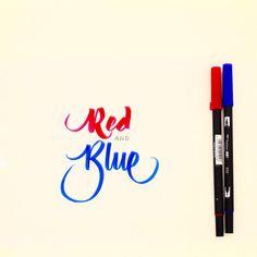 Red & Blue ✨✏️ #brush #brushlettering #illustrationoftheday #dailytype #lettering #handmadewithlove #handmadefont #hellotype #type #typewriter #goodtype #typography #logotype #calligraphy #calligraffiti #graffiti #flingern #düsseldorf #lettering #letterwriting #freehand #handfont #handtype #hellofont #customlettering #fontoftheday #fontlettering #type #typo #typelover #typejunkie #typografie