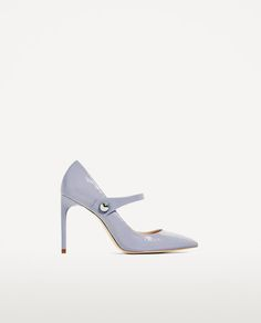 PATENT FINISH HIGH HEEL SHOES WITH STRAP
