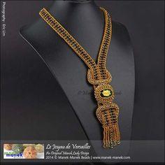 Le Joyau de Versailles (The Manek Lady) Tags: necklace bead swarovski craw firepolish seedbeads beadweaving obeads maneklady