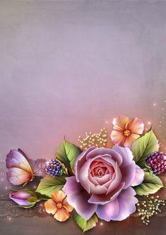 "Photo from album ""Фоны"" on Yandex. Frame Background, Paper Background, Flower Frame, Flower Art, Envelopes Decorados, Molduras Vintage, Birthday Frames, Borders And Frames, Writing Paper"
