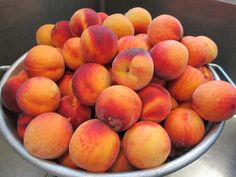 We purchase local peaches when in season. Nothing beats our local Utah peaches!