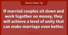 Working together on your money WILL make your marriage better.