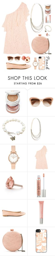 """""""Peach"""" by gicreazioni ❤ liked on Polyvore featuring Tom Ford, Oliver Peoples, Olivia Burton, Rachel Zoe, Urban Decay, Sam Edelman, Burberry, Serpui and Casetify"""