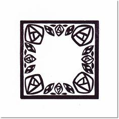 テラピィの乙女はんこ flower stamp~切り絵風バラ~ 2014 5×5cm