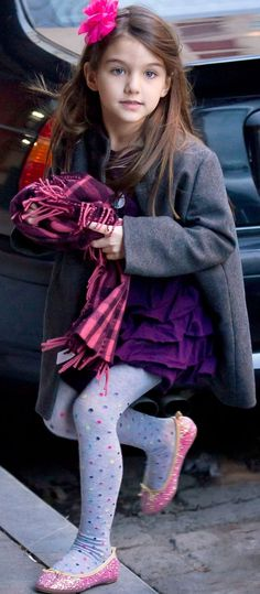 Girls' fashion - little fashionista Suri Cruise