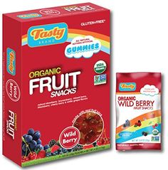 Tasty Brand Organic Fruit Snacks Wild Berry 4Ounce Boxes Pack of 3 * Click image to review more details.