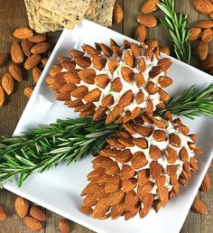 Pine Cone Cheese Ball Appetizer | 20 Best Thanksgiving Appetizers + Side Dishes
