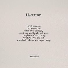 Haunted // nikita gill