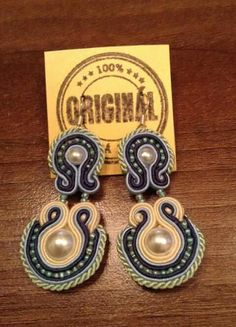 Handmade ZuzDesign soutache earings Jewelery, Feelings, Earrings, Handmade, Jewlery, Ear Rings, Jewels, Stud Earrings, Hand Made