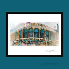 New York  Mets Art Print CitiField  Print 8.5 x 11 by dfrdesign, $23.00