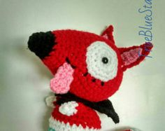 Peg + Cat Baby Fox doll inspired by peg plus cat peg and cat crochet stuffed toy