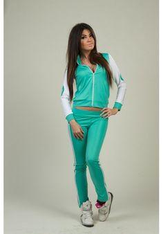 Спортивный костюм Адидас АИ-1160 (цвет бирюза)