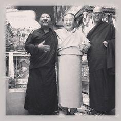 Tsoknyi Rinpoche, Sogyal Rinpoche and Choegon Rinpoche Choekyi Wangchuk
