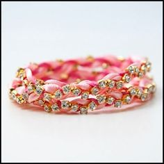 Rhinestone Braided Bracelet DIY