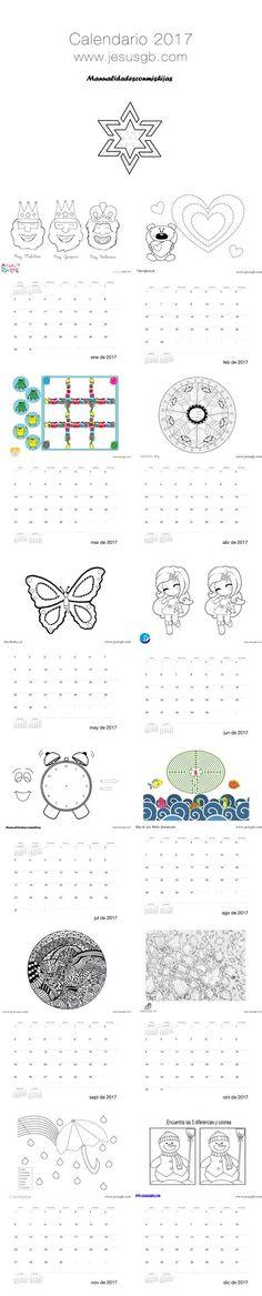 jueves, 22 de diciembre de 2016  Calendario infantil 2017 - Colaboración bloguera. 12 meses, 12 actividades diferentes para hacer con los niños