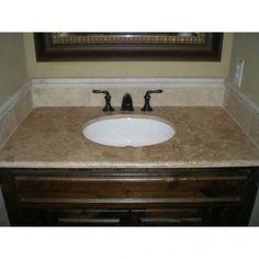 Travertine bathroom countertops