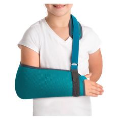 CABESTRILLO PARA NIÑOS - REF: OP1132:  Tratamientos de inmovilización posquirúrgica o postraumática, traumatismos de hombro y brazo que requieran una reducción de la movilidad y lesiones en partes blandas, como infecciones o quemaduras.