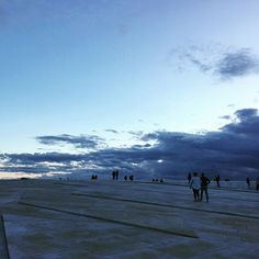 Walking on the roof of Oslo Opera house !