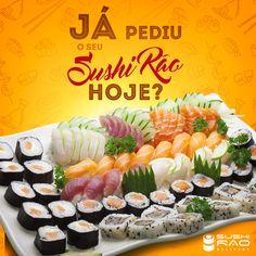Food Poster Design, Food Design, Arte Do Sushi, Social Design, Sushi Design, Instagram Design, Social Media Template, Design Reference, Japanese Food