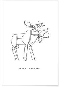 M als Premium Poster door Julia Marquardt | JUNIQE