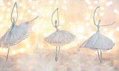 MERRY mag and Crepe paper Ballerina ornament tutorial
